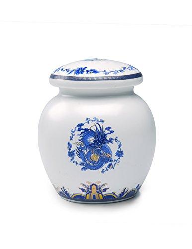 Dahlia Blue and White Royal Dragon Airtight Porcelain Tea Tin Tea Storage Tea Caddy Tea Canister