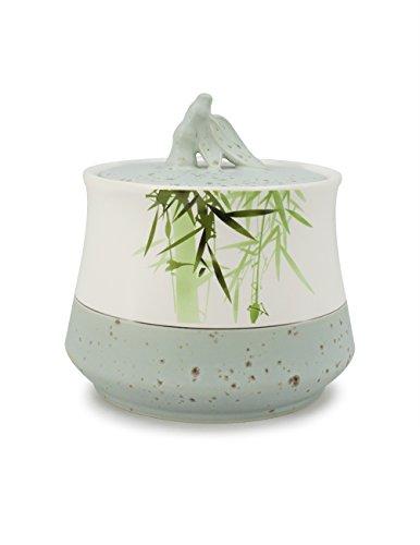 Dahlia Peaceful Bamboo High Grade Porcelain Loose Tea TinTea Storage Tea Caddy Tea Canister