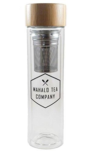 Mahalo Tea Black Glass Tea Infuser - 16oz