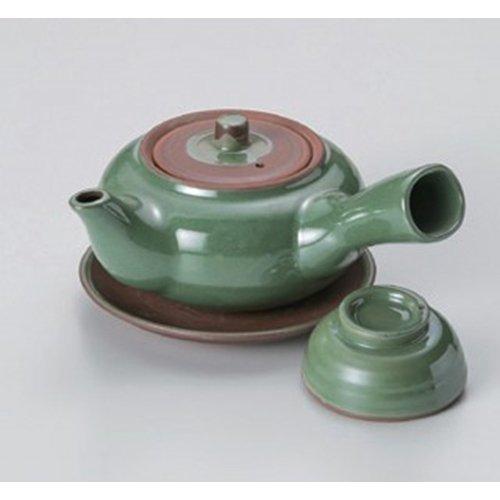 Dobin Pot utw478-24-814 44 x 26 inch 115floz Japanece ceramic Green teapot-shaped earthenware teapot insect tableware