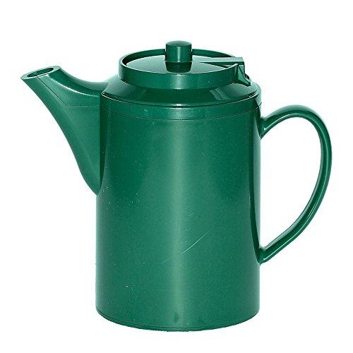 Service Ideas TS612FG Plastic 16 OzForest Green Teapot - 6  CS