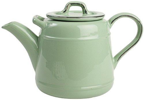 T&G Old Green Ceramic Teapot 10504