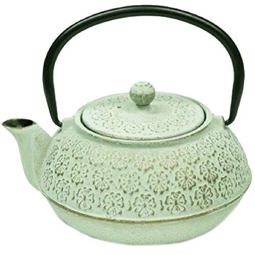 Tetsubin light green teapot Japanese 06 liter
