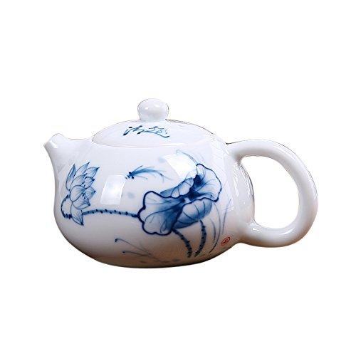 ASIBG Home Ceramic Kung Fu tea sets high white porcelain blue and white porcelain teapot hand