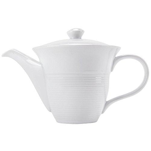 CAC HMY-TPW16 Harmony 16 oz Super White Porcelain Teapot - 24Case