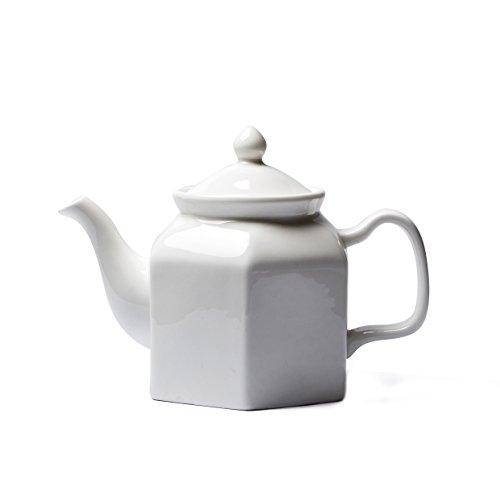 China Ceramic pot White porcelain teapot White tea set Hexagon pot 650cc
