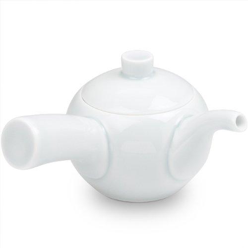Hakusan ceramics MARUCO round small white porcelain teapot left-hand japan import