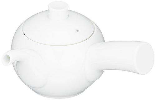 Hakusan ceramics MARUCO round small white porcelain teapot right-handed japan import