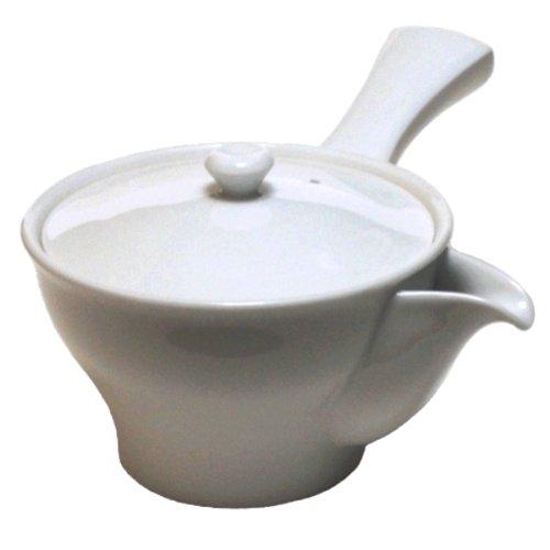 White porcelain teapot G YA440 japan import