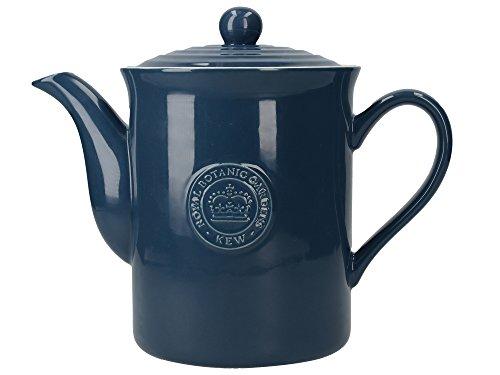 Royal Botanic Gardens Kew Richmond 8-Cup Vintage-Style Ceramic Teapot 155 L 275 Pints - Navy Blue