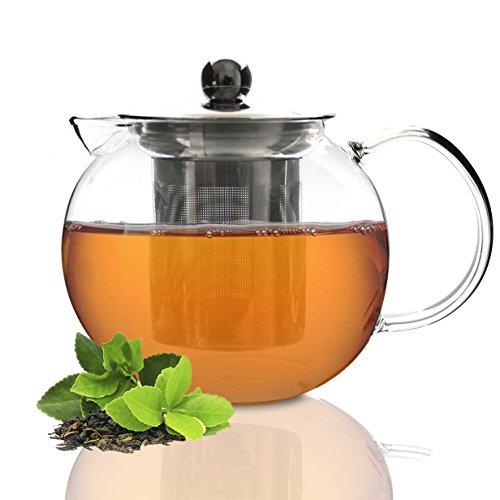 Tea Branch Glass Tea Set Glass Teapot Tea Infuser Tea Maker For Loose Tea Iced Tea Blooming Borosilicate Glass Tea Pot 27 oz 800 mililiter Teapot