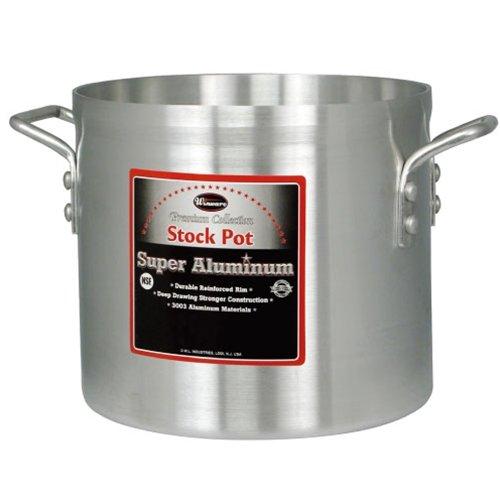 Winco AXS-80 80-Quart 18 x 18-14 Super Extra-Heavy Aluminum Professional Stock Pot with Reinforced Rim Commercial Grade Sauce Pot