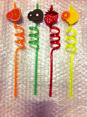 Fruit Straws 4 pcs for party fun