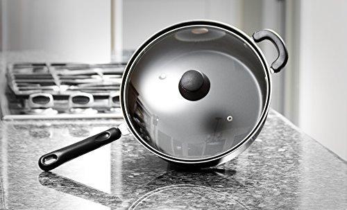 Deep Carbon Steel Fry Pan or Skillet - 11 Inch Frying Pan