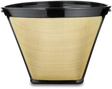 2 X 4 Cone Shape Permanent Coffee Filter GoldBlack 1