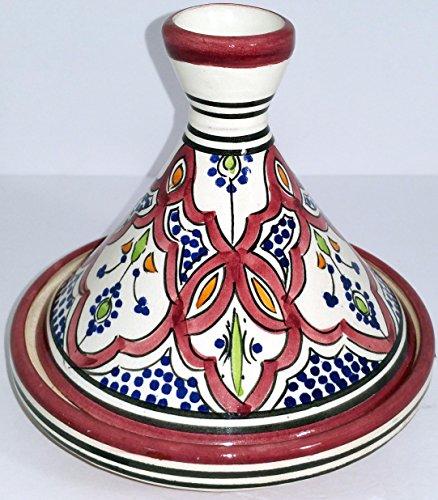 Small Moroccan Multi color Serving Tagine Pot Ceramic Cookware Dish Clay