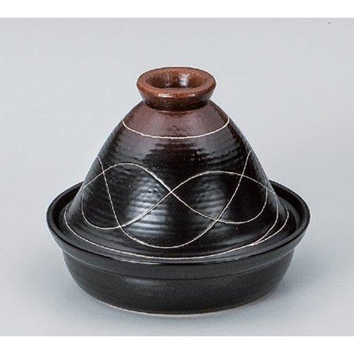 Tagine Pot utw486-23-814 121 x 87 inch Japanece ceramic Wavy line No 10 tagine pot tableware