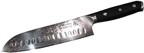 Professional Chef - 7 inch Santoku Kitchen Knife - Damascus Steel