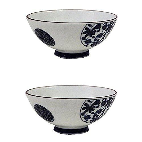 Japanese ceramic Rice Bowl Arabesque 【Pair Item】 bulk Style Japan Import