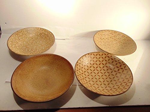 Set of 4 Handpainted Ceramic Rice Bowls by Kotobuki Trading Company