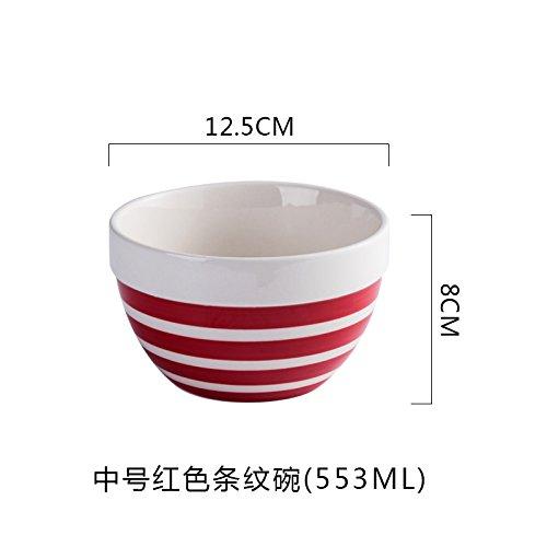 YMFIE Home ceramic rice bowl European style vegetable salad bowl 1 piecesB