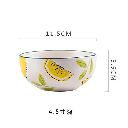 YMFIE Household ceramic rice bowl salad bowl European style brief originality tableware 1 piecesB