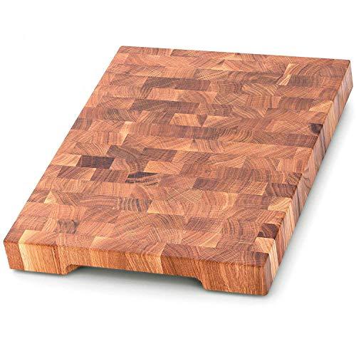 End Grain Wood cutting board - Wood Chopping block - Large cutting board 16 x 12 Kitchen butcher block Oak cutting board non slip cutting board with feet - Kitchen Wooden chopping board