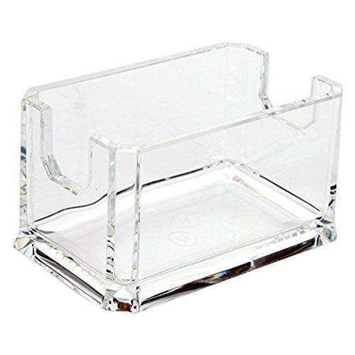 ARAD Crystal Clear Restaurant Style Acrylic Sweetener Sugar Sweet 'N Low Holder 24 Packet Capacity