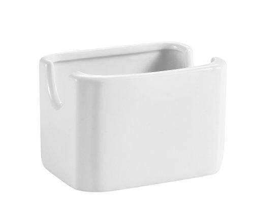 CAC China HSP-7-W Porcelain Rectangular Sugar Packet Holder 3-18-Inch Bone White Box of 36