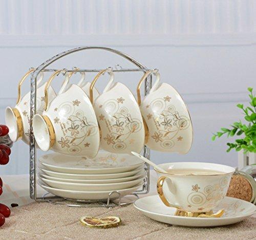 Blue White Magnolia Gracie Bone China 11-Piece Tea Set