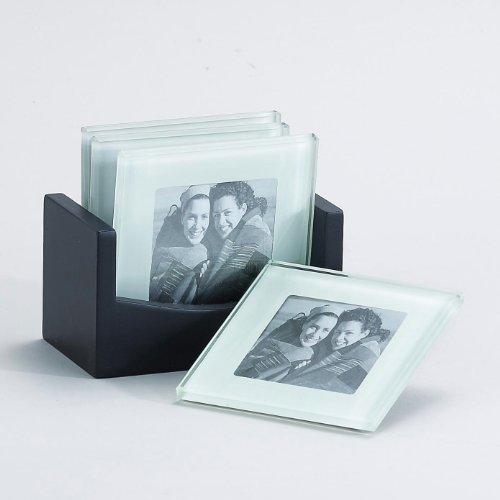 4 Frame Photo Glass Coaster Set of 4 Item  33221