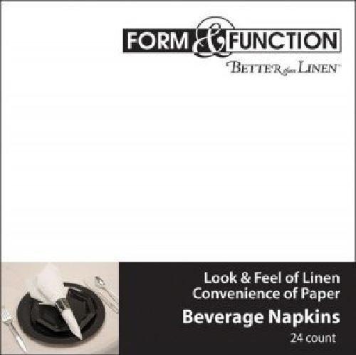 Better than Linen White Beverage Napkins 24 per Pack