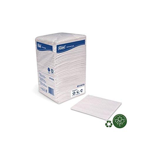 SCA Tork Universal Beverage Napkin 1-Ply White 10 x 10 8 Packs of 500 Napkins 4000 Napkins Per Case