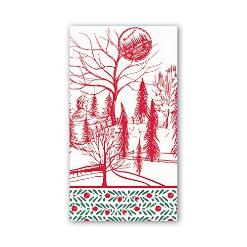 Michel Design Works Hostess Napkins Santas Eve