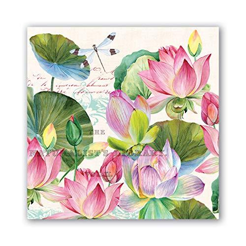 Michel Design Works Luncheon Napkins Water Lilies
