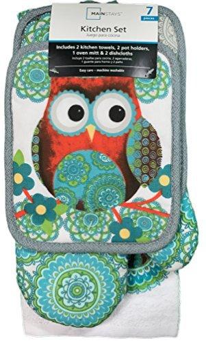 Mainstays 7 Piece Kitchen Set Owl