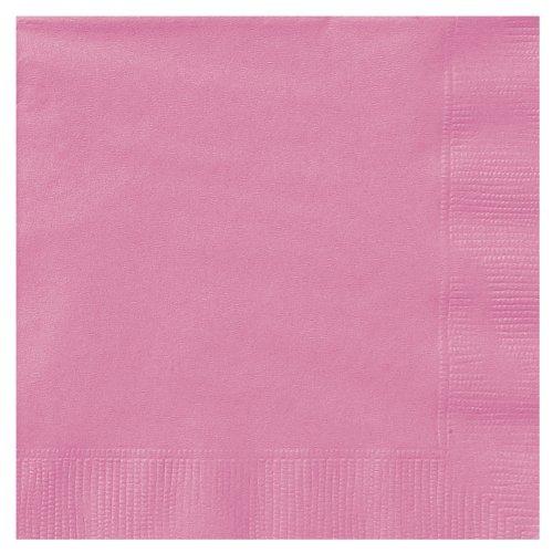 5 Hot Pink Paper Napkins by Unique Party