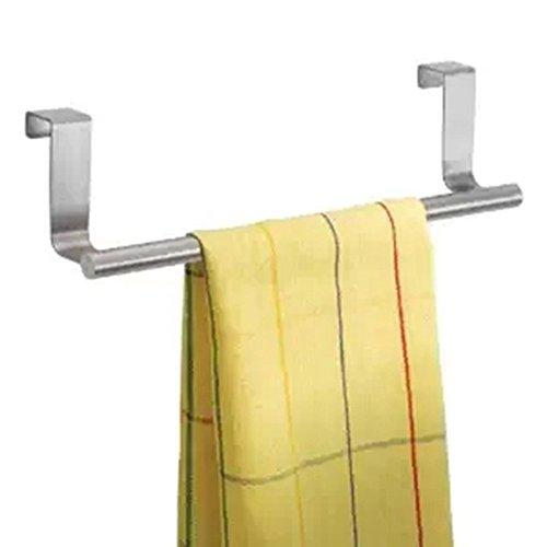 Bluelans Over Kitchen Cabinet Door Tea Hand Towel Rail Rack Holder Hanger Storage - 36cm