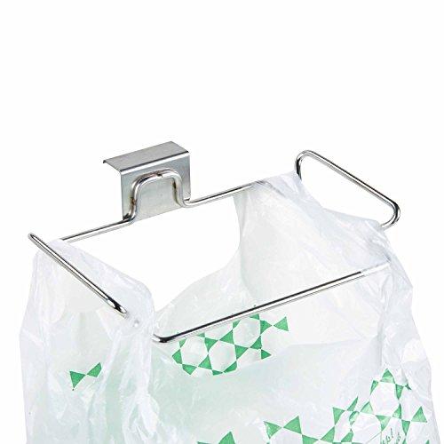 Lebather Over the Cabinet Door Organizer 2 Pack Garage Trash Bag Holder Shelf for Kitchen Cupboards 18514525 cm(2 Pack