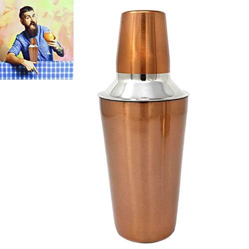 Stainless Steel Copper Cocktail Shaker 18oz Built In Strainer Bartender Martini Mocktail Mixer Stunning Copper