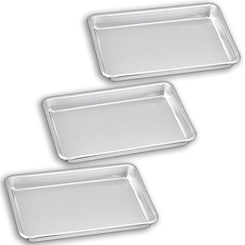 Bakeware Set - 3 Aluminum Sheet Pan - 18 Size 65 x 95 - for Home Use Perfect Size For Your Microwave Oven Non Toxic Perfect Baking Supply set for gifts for new and experienced bakers alike