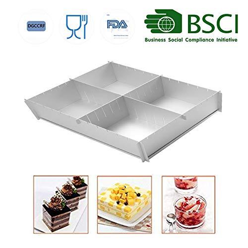 HAIT Cake Baking Aluminum Baking Tray Multifunction Adjustable Square Family Baking Mold A