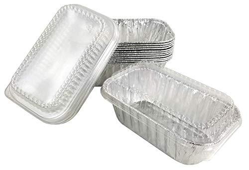 Handi-Foil 1 lb Aluminum Foil Mini-LoafBread Baking Pan wClear Low Dome Lid Pack of 50 Sets