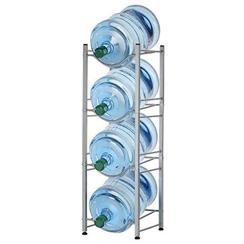 5 Gallon Water Cooler Jug Bottle Holder Rack 4-Tier Detachable Heavy Duty Water Bottle Cabby Rack Water Bottle Storage Shelf