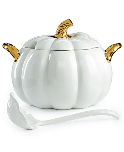 Martha Stewart Collection 2-Pc Lidded Harvest Pumpkin Soup Tureen