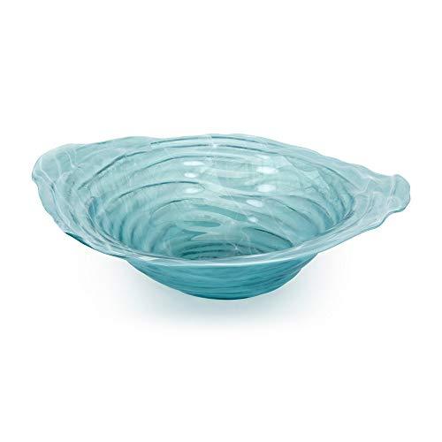Benjara Blue Benzara BM187327 Beautiful Belize Recycled Glass Bowl