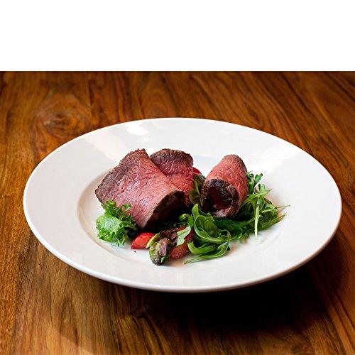 Dauerhaft Dinnerware 10 oz Porcelain Pasta PlatePasta Bowl Wide Rim Salad Bowl Rolled Edge Super White High-end Restaurant Quality 4