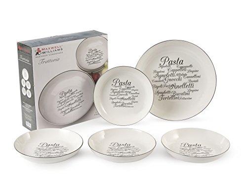 Trattoria Pasta Plates Set White