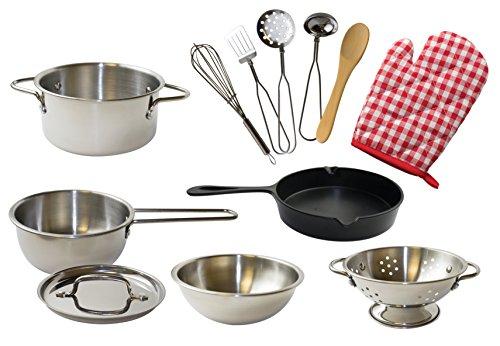 Kangaroos Deluxe Kitchen Pots N Pan Set 12 Piece Play Set