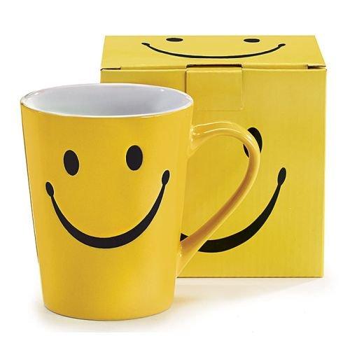 1 X Smiley Happy Face 14 oz Stoneware Coffee MugCup